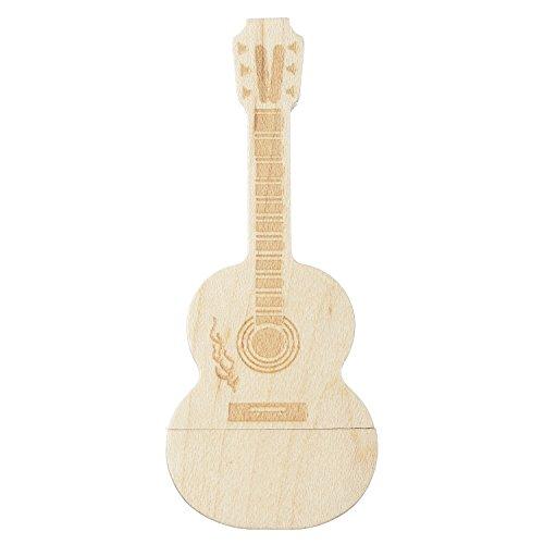8GB-Holz-Gitarre-Externe-Datenspeicher-Extreme-Speed-USB-20-Cremefarbene