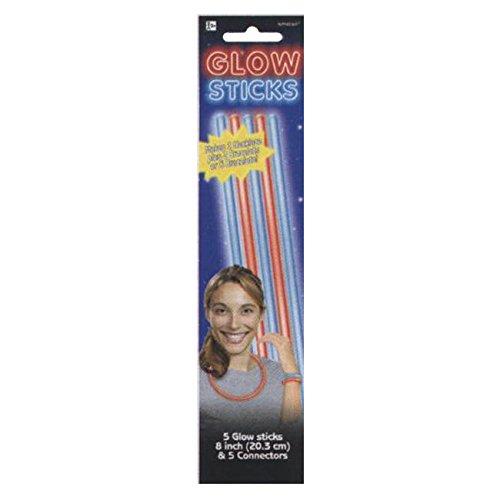 Patriotic Glow Sticks 8 in Plastic - 1