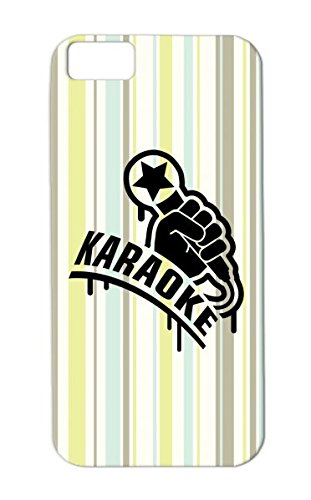 Music Microphone Hiphop Superstar Mic Miscellaneous Karaoke Concert King Rock Rap Hand Tpu Black Protective Hard Case For Iphone 5C Karaoke1 F1