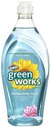 Green Works Natural Dishwashing Liquid, 22 fl oz Bottle, Water Lily