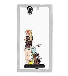 ifasho Designer Phone Back Case Cover Sony Xperia C4 Dual :: Sony Xperia C4 Dual E5333 E5343 E5363 ( Lady Tattoo Art )