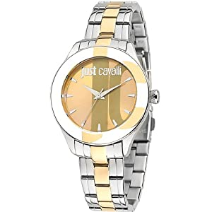 Just Cavalli R7253592503 Women's Silk Gold Dial Watch