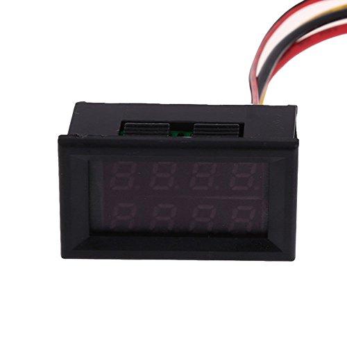 Vakind New Dual Led Digital Voltage Current Display Voltmeter Ammeter Panel Gauge (Red And Blue, 30V 50A)
