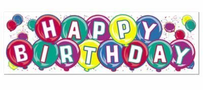 Happy Birthday Sign Banner Party Accessory (1 count) (1/Pkg)