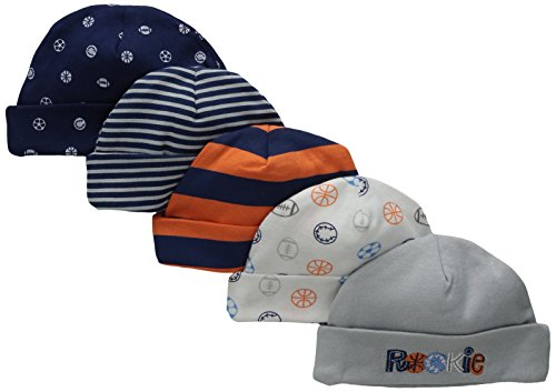 Gerber Baby Boys' 5 Pack Caps, Sports, Newborn (Newborn Cap compare prices)