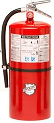 """Buckeye 12220 Standard Dry Chemical Hand Held Fire Extinguisher with Aluminum Valve and Wall Hook, 20 lbs Agent Capacity, 7-1/2"""" Diameter x 8-3/4"""" Width x 21-1/4"""" Height"""