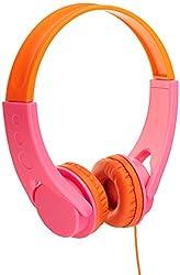 AmazonBasics On-Ear Headphones for Kids (Pink/Orange)