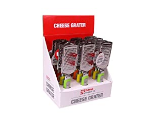 Home Basics Cheese Grater with a comfortable grip by Home Basics
