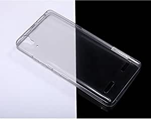 Nillkin 0.6mm Ultra-Thin Flexible TPU Transparent Nature Clear Back Case Cover For Lenovo A6000 4G with Front Screen Guard -- Grey