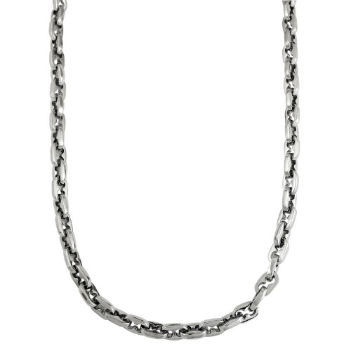 Men's Stainless Steel Chain Necklace, 22