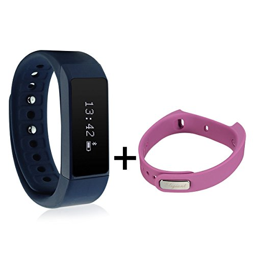 Smart Bracelet,ELEGIANT I5 Plus Waterproof Bluetooth Sports Bracelet Pedometer Tracking Calorie Health Wristband Sleep Monitor For Samsung Andriod Smart Phones with Band Bracelet Sets Blue