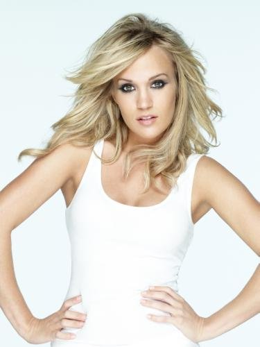 Carrie Underwood Poster White Tank Top