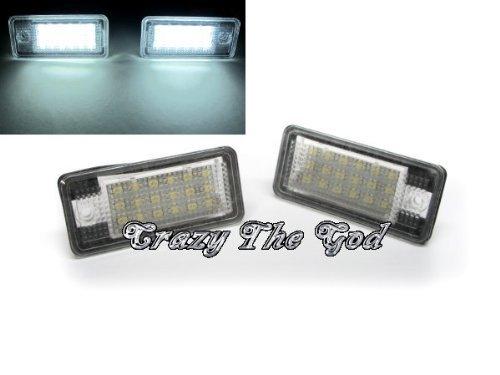 Crazythegod A6 A8 S6 S8 18 Led Number License Plate Light For Audi