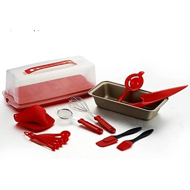 Cake Baking Set 14 Piece Set Plastic+Carbon Steel 13.4″*5.5″*4.7″