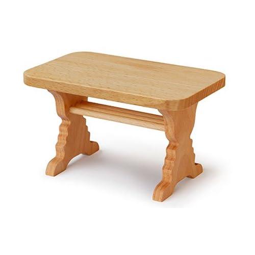 角テーブル (ミニチュア家具の木のおもちゃ) Wooden toys furniture