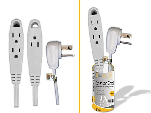 oxford light top rated 8 ft white extension cord 3 outlet indoor outdoor extension cord. Black Bedroom Furniture Sets. Home Design Ideas