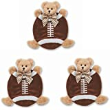 Bearington Baby All Stars Touchdown Football Bear Collection Wee Blanket Security Blankie Set Of 3