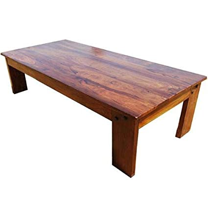 Amish Wood Large Rectangular Rustic Coffee Table