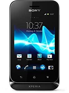 Sony Xperia tipo Smartphone (8,1 cm (3,2 Zoll) Touchscreen, 3,2 Megapixel Kamera, Android 4.0) schwarz