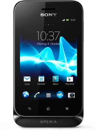 Sony Xperia tipo Android Smartphone (8,1 cm (3,2 Zoll) Touchscreen, 3,2 Megapixel Kamera, Android 4.0) schwarz