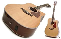 Electro Acoustic Guitar: Solid Top Dreadnought Electro Acoustic with Cutaway