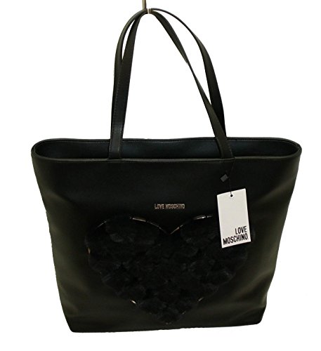 Borsa Love Moschino shopping BAG JC4307 women cuore in peluche nero
