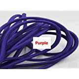 2M,3M,5M, Or 10M/Lot VDE Certified 2 Core Round Textile Electrical Wire Color Braided Wire Fabric Cable Vintage Lamp Power Cord purple color 2m (Color: purple color, Tamaño: 2m)