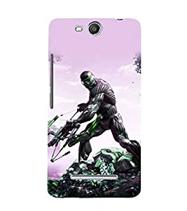 printtech Game Crysis Weapon Back Case Cover for Micromax Canvas Juice 3 Q392