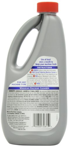 clorox washing machine cleaner 30 ounce