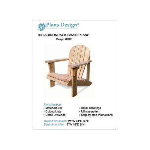 Child size adirondack chair plan | Mella mah
