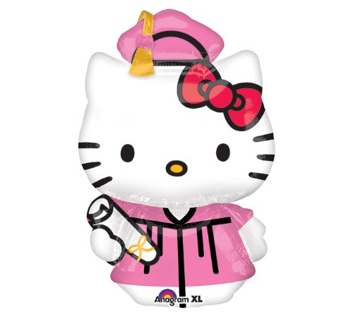 "1 X Hello Kitty Graduation 31"" Mylar Foil Balloon"