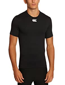 Canterbury Men's Baselayer Cold Short Sleeve Top, Black- X - Small