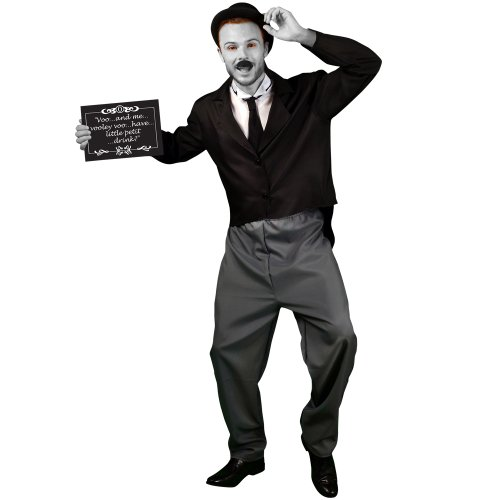 Morphsuits Men's Morphcostume Co Silent Movie Star 1920S Male Costume