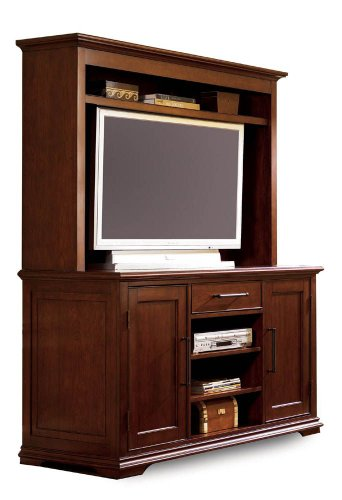 Buy Low Price Lane Entertainment Buffet w/ Entertainment Hutch by Lane – Natural Cherry (11953-16R) (11953-16R)