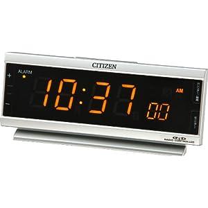 CITIZEN (シチズン) 目覚し時計 パルデジットピュア 電波時計 夜でも見えるLED表示 AC電源 8RZ099-019
