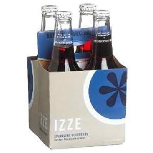 Izze Sparkling Blueberry Soda 4 pack (4 12 ounce) Bottles
