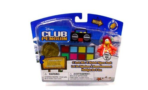 Buy Low Price Jakks Pacific Club Penguin: 2 Inch Mix 'N Match Series 9 Figure Pack – Cadence – Get the Party Started! (B0047Q2DVC)