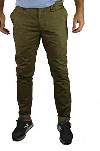 BURBERRY pantaloni uomo marroncino cotone (size 40)