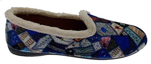 pantofola blu fantasia patchwork art 4138 41 blu