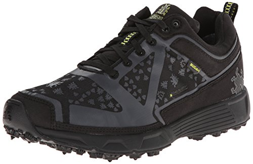 Icebug Women's DTS Dri BUGrip Running Shoe,Black/Charcoal,7.5 M US