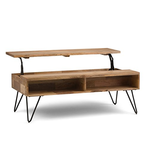 736a6f2ebd8a Simpli Home AXCHUN-01 Hunter Solid Mango Wood Mid-Century Coffee Table in  Natural