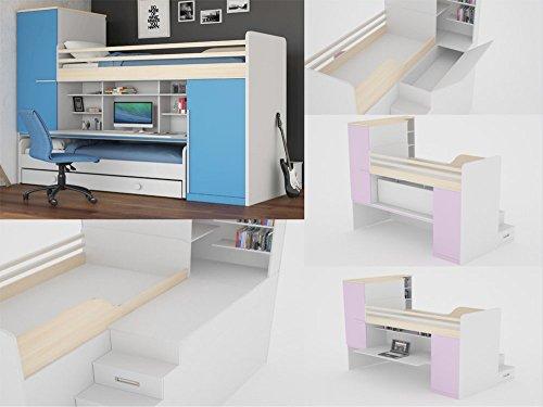 kinder jugendzimmer incredible inkl 2 kleiderschr nken. Black Bedroom Furniture Sets. Home Design Ideas