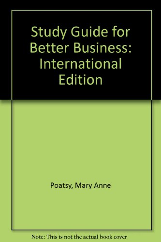 Study Guide for Better Business