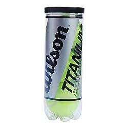Wilson Titanium 3 Tennis Ball, Pack of 3 (Yellow)