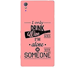 Skin4gadgets Awesome Wine & Dine Quotes, Pattern 30, Color - Cyan Phone Skin for XPERIA T3 (M50w)