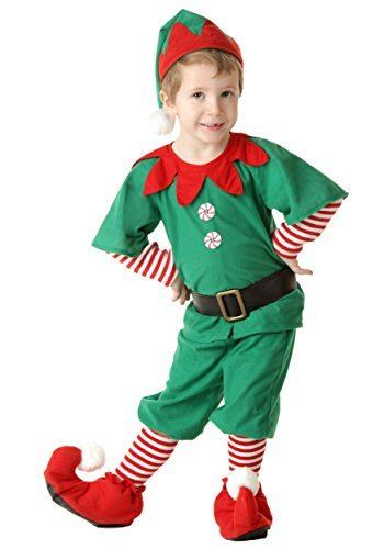 Little Boys' Toddler Happy Christmas Elf Costume