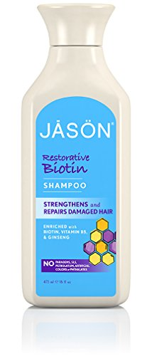 Jason Natural Biotin Shampoo, 16 oz, 2 pk