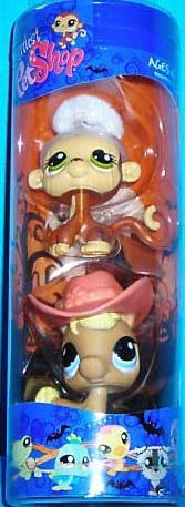 Littlest Pet Shop Exclusive 2-Pack Tube Spooky Monkey And Horse