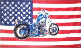 3'x5' Harley Chopper American Flag, biker
