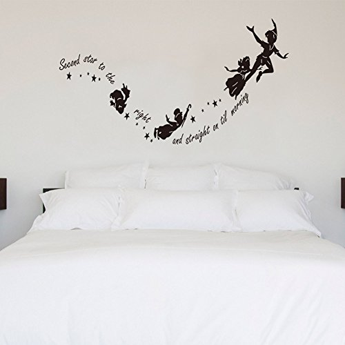 meihuida-peter-pan-second-star-to-the-right-tinkerbell-wall-sticker-for-room-decor-black